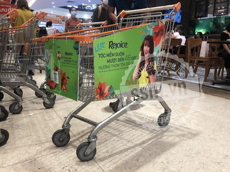 Quảng cáo xe đẩy siêu thị