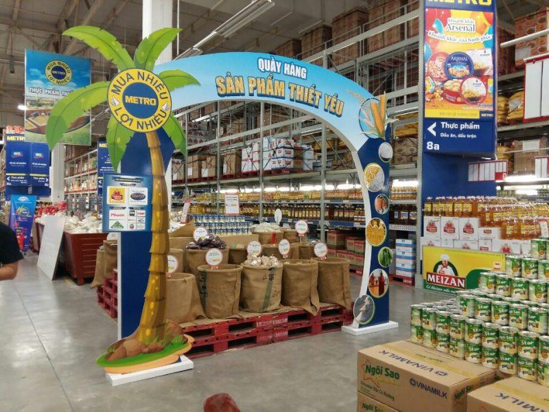 Độc đáo và hiệu quả với cổng chào quảng cáo tại siêu thị