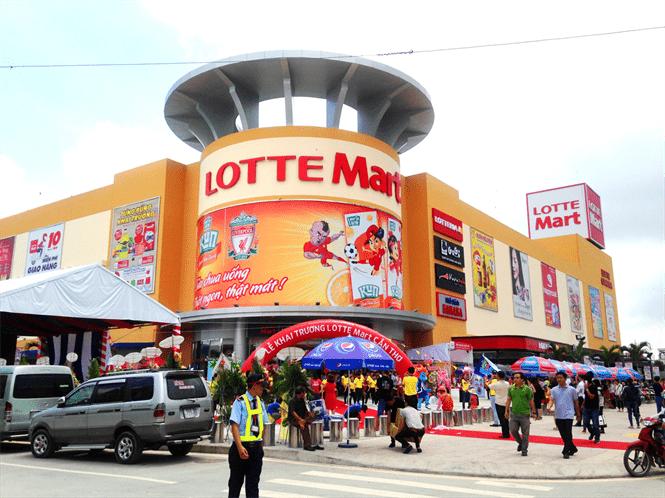 Quảng cáo trên xe đẩy siêu thị Lotte Mart