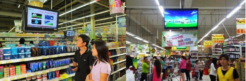Quảng cáo tại siêu thị Big C Bình Dương