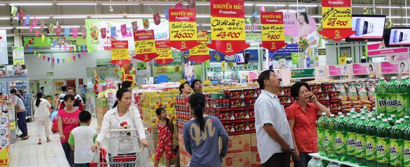 quảng cáo tại siêu thị Big C Hà Nội