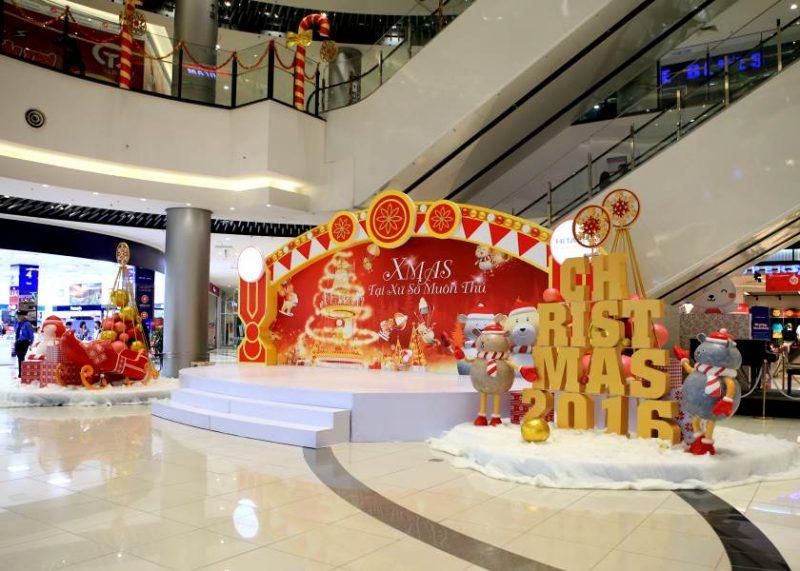 quảng cáo tại Aeon Mall