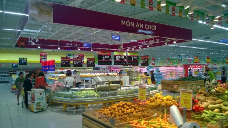 quảng cáo tại siêu thị Big C Huế