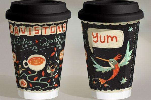 Quảng cáo trên ly giấy - cốc cafe