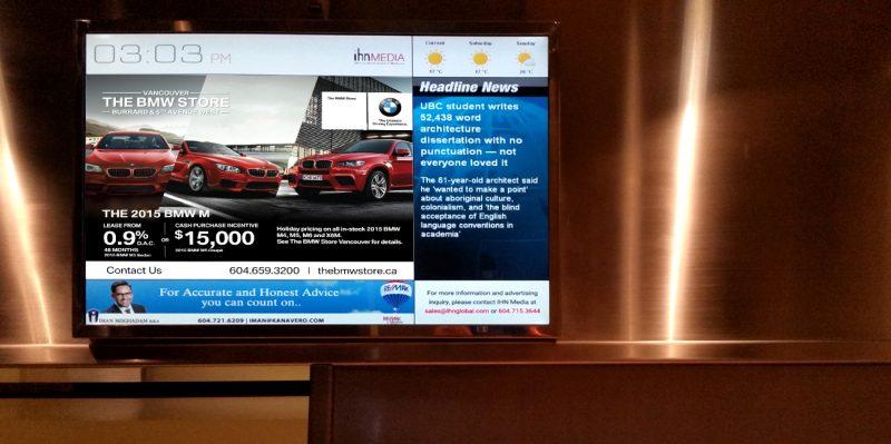 Những điểm đáng chú ý về quảng cáo LCD trong thang máy