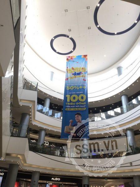 quảng cáo thông tầng tại aeon mall