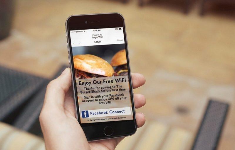 quảng cáo wifi marketing tại nhà hàng
