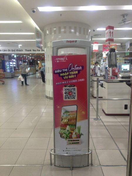 quảng cáo tại cống từ siêu thị lotte mart